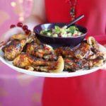 Sticky chilli roast chicken with rice salad