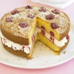 Raspberry & lemon polenta cake