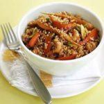 Spring veg & prawn stir-fry
