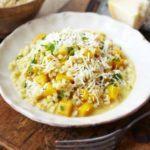 Creamy barley & squash risotto