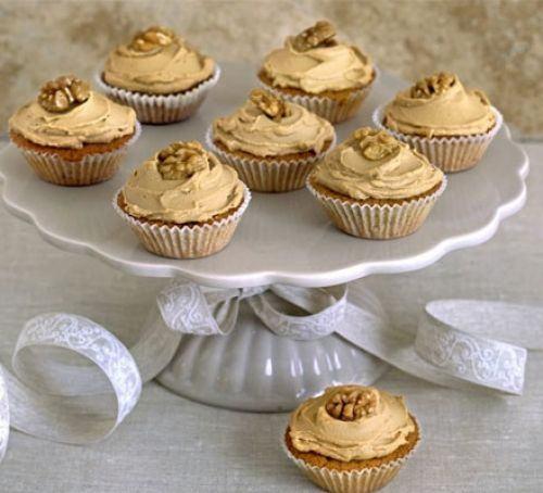 Coffee cream & walnut cupcakes Recipe