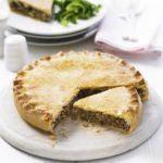 Spiced pork & potato pie
