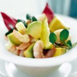 Avocado prawns in wasabi dressing