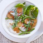 Noodle broth with Thai flavours