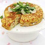 Provencal omelette cake