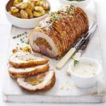 Roast pheasant with ricotta & Parma ham