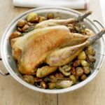 Guinea fowl with roast chestnuts