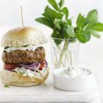 Lamb burgers with tzatziki