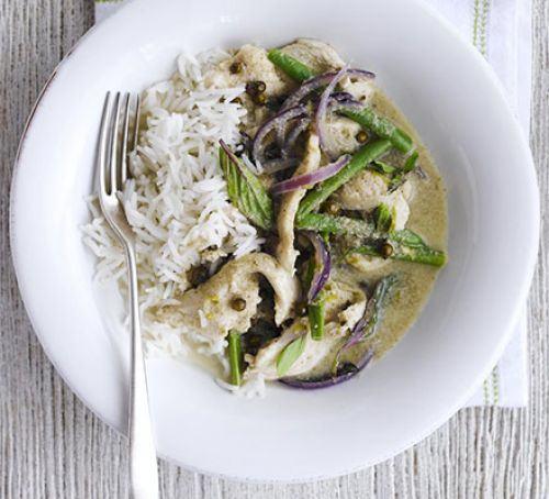 Speedy green chicken curry Recipe