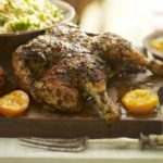 Moroccan roast chicken with apricots