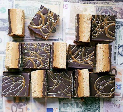 Salted caramel & peanut butter billionaire's slice Recipe