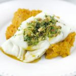 Moroccan spiced fish with ginger mash