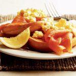 Smoked salmon & lemon scrambled eggs