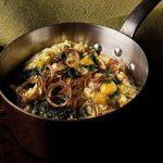 Garlicky pumpkin risotto