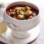 Winter minestrone with pesto croutes