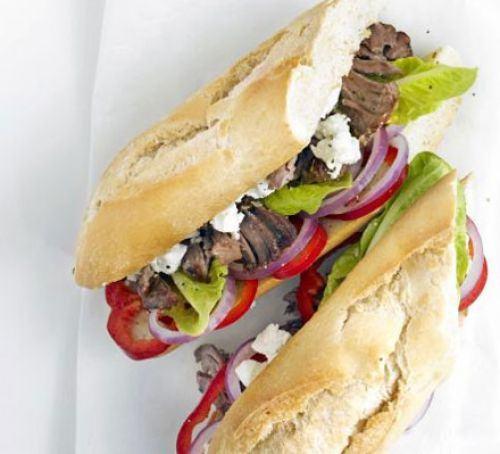 Greek lamb baguette Recipe