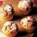Rhubarb & custard muffins