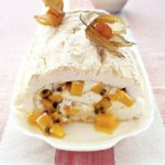 Mango & passion fruit meringue roulade