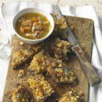 Mustard-crusted breast of lamb