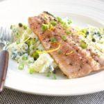 Trout with creamy potato salad