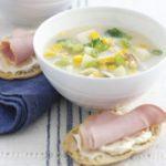 Haddock & sweetcorn soup