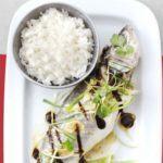 Steamed sea bass with black bean sauce