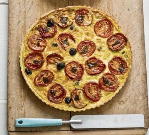 Slow-roasted tomato & gruyere tart Recipe