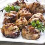 Sticky tamari & honey chicken thighs