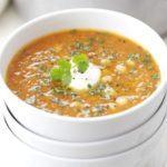 Red lentil, chickpea & chilli soup