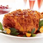 ham with sticky ginger glaze Nut free Christmas recipe