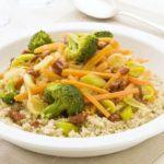 Quinoa with stir-fried winter veg