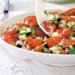 Tomato, cucumber & coriander salad