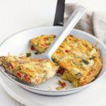 Artichoke & roasted red pepper souffle omelette
