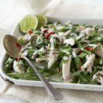 Thai shredded chicken & runner bean salad