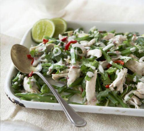 Thai shredded chicken & runner bean salad Recipe