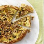 Rustic courgette, pine nut & ricotta tart