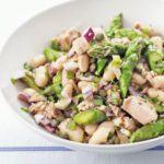 Tuna, asparagus & white bean salad
