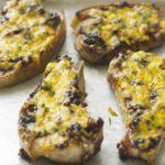 Cheese & onion pork chops