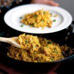 Curried chicken & cashew rice