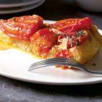Tomato & caramelised onion tart tatin