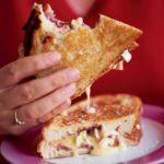 Pan-fried camembert sandwich