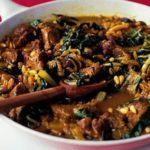 Moroccan chard & lamb pan-fry