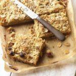 Gooseberry & almond streusel squares
