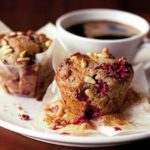 Raspberry Coffee Time muffin