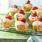 Strawberry & polenta cupcakes