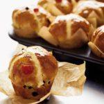 Hot cross muffin buns