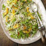 Squash, orange & barley salad