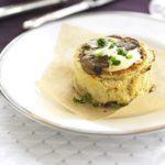 Make-ahead mushroom souffles
