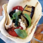 BBQ vegetables with goat's cheese