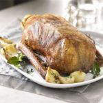 Classic roast goose with cider gravy